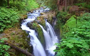 Sol Duc Falls, Olympic National Park, Washington State, waterfall
