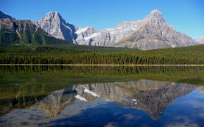 Parco Nazionale di Banff, Alberta, lago, Montagne, paesaggio
