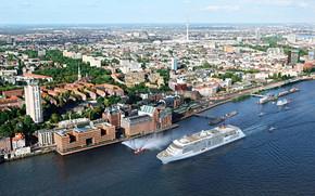 MS EUROPA 2, Crociera, Nave, Amburgo, Porto