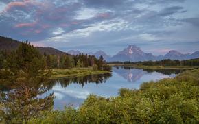 Parc national de Grand Teton, lac, Montagnes, paysage