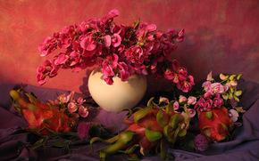 Kwiaty, ORCHIDS, wazon, martwa natura