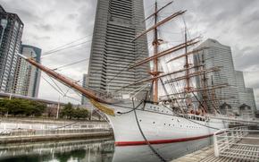 Nippon Maru, velero, Yokohama-shi, Kanagawa Prefecture, Japón