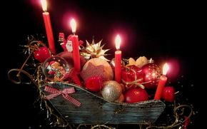 蜡烛, 气球, 节日静物
