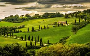 umbria, italia, умбрия, холм, дом, италия, italy
