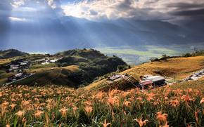 Les rayons du soleil, Mt. Soixante Ton, TAIWAN
