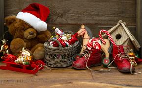 szczęśliwy, ferie, wesoły, Boże Narodzenie, ładny, dekoracja, zabawki