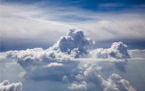 небо, облака, природа