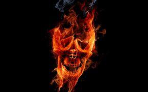 Cráneo, fuego, Muerto