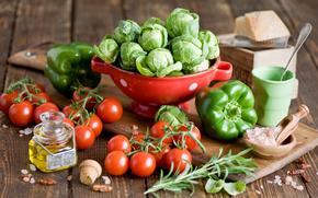 food, fresh, vegetables, tomatoes, pepper