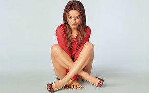 девушка, в красном, ножки