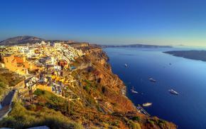 Santorini, Grecia, città