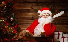 contento, vacanze, allegro, Natale, nuovo, anno, Santa, claus
