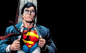 arte, L'Uomo d'Acciaio, Man of Steel, Superman, Clark Kent, comic strip, cartone animato