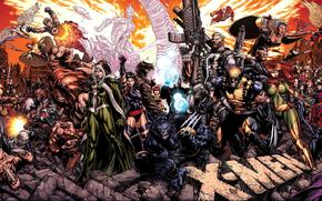 art, X-Men, Wolverine, Росомаха, комикс, cartoon