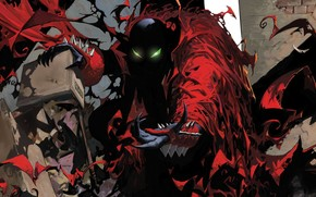 arte, Spawn, Spawn, demon, infernale, mostro, comic strip, cartone animato