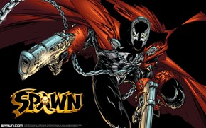 art, Spawn, Spawn, demon, infernal, monster, comic strip, cartoon