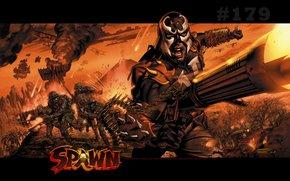 arte, Spawn, Spawn, demon, infernale, mostro, comic strip, cartone animato