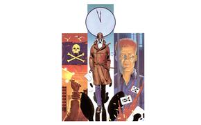 arte, guardiano, Rorschach, comic strip, cartone animato