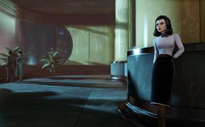 bioshock infinite, art, burial, at, sea, elizabeth, game, girl, woman.