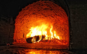 forno, fuoco, carboni