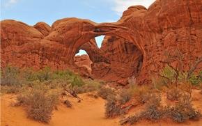 Arches National Park, скалы, арки, сша, пейзаж