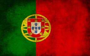 португалия, флаг, полосы, цвета, грязь