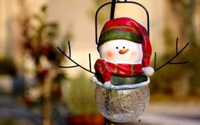 ハッピー, 祝日, 陽気な, クリスマス, 新しい, 年, 装飾