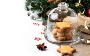 happy, holidays, merry, Christmas, new, year, decoration, cookies