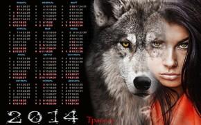 calendar, 2014, Lone wolf