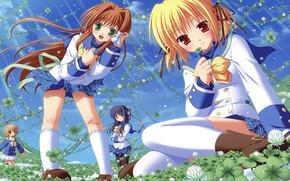 девушки, аниме, art