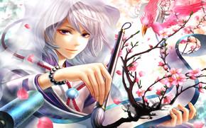 девушка, аниме, art