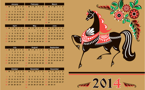 year of the horse, calendar, 2014
