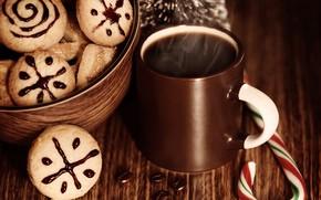 contento, vacanze, allegro, Natale, nuovo, anno, biscotti