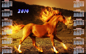 2014, calendar, year of the horse