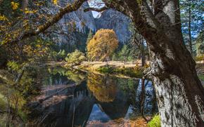 Parque Nacional de Yosemite, río, Montañas, paisaje