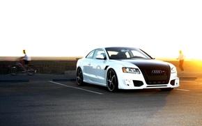 Audi A5, ABT, Ауди, белая, тюнинг