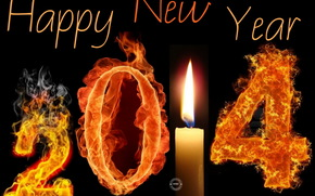 holidays, New Year (Christmas), Candles Fire, 2014