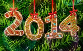Новый год ( Рождество ), 2014, ветки ели
