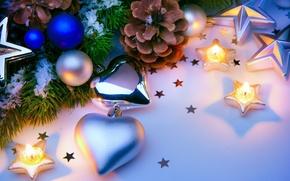 Coni, Candele, Capodanno, Palloncini, Decorazioni di Natale