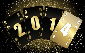 New Year, 2014, cards