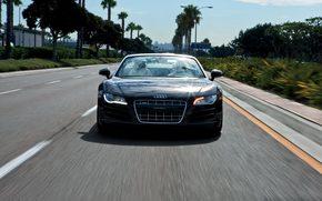 Audi R8, Spyder, Ауди, дорога