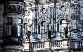 wall, windows, sculpture, architecture, wallpaper