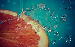 grapefruit, lobule, spray