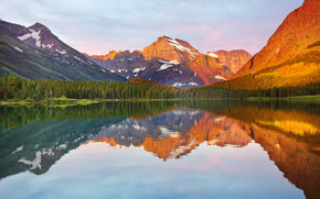 Swift Current Lake, Glacier National Park, lake, Mountains, landscape