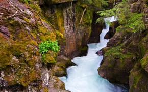 Rocce, piccolo fiume, natura