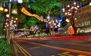 Christmas, new year, Decorations on Orchard Road, Singapore