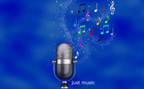 musique, microphone, musique, papier peint, sonner