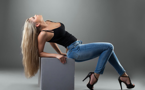 girl, blonde, dzhynsy, shoes