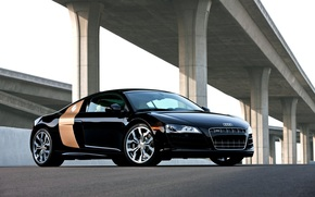 Audi R8, Ауди, черная, классная
