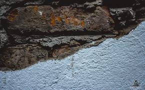 wall, Bricks, wall, plaster, lime, logo, Michael Mukhortov, jc-mike, design studio GoodLuck
